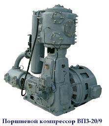 Компрессор ВП3-20/9 - вид компрессора