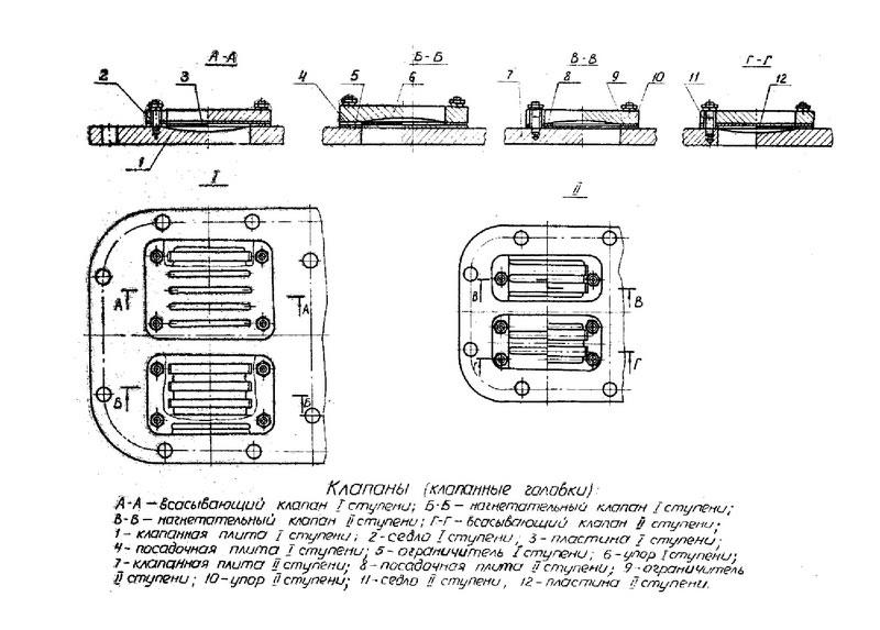 Компрессор 4ВУ1-5/9 чертеж