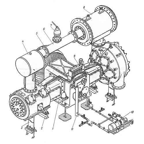Общий вид компрессора 2ВМ10-63/9