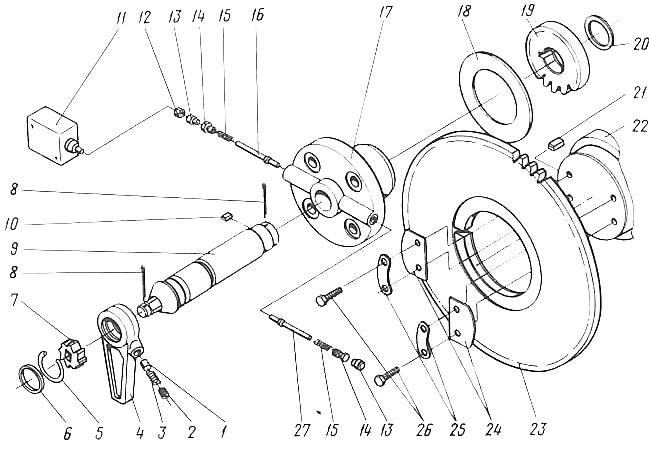 Поворотный механизм 2ВМ10_4ВМ10